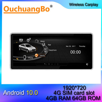 Ouchuangbo android 10 car radio gps multimedia player for 10.25 inch A5 A4L A4 2004-2008 2009 MMI 2G stereo head unit RHD image