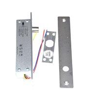 Fail secure fail safe opcional aço dc 12 v elétrica parafuso bloqueio solenóide fechadura da porta elétrica 5 fios feedback bloqueio|Trava elétrica| |  -
