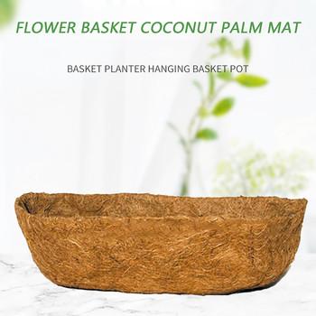 40 # ściana wieszana doniczka Liner roślina kokosowa włókno palmowe wymiana wkładka do doniczek kwiat orchidei balkon sadzenia doniczka tanie i dobre opinie CN (pochodzenie) Akrylowe