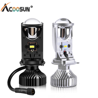 Led H4 Car Headlight Bulbs LED Projector Lens Automobiles Lamp Conversion H4 Hi/Lo Beam Headlamp 12V 24V 5500K Auto Car Lights