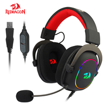 Redragon H510 RGB זאוס X משחקי אוזניות מיקרופון רעש ביטול 7.1 Surround מחשב אוזניות אוזניות EQ בקר