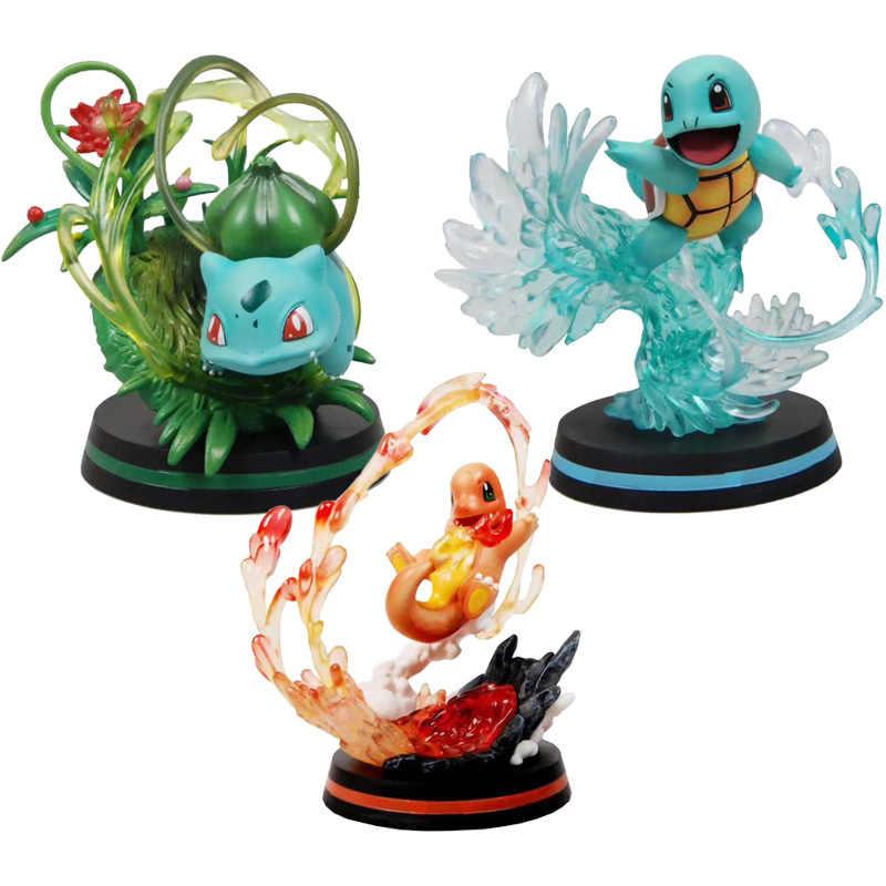 GK ヒトカゲカメックスゼニガメアクションフィギュアモデルコレクションおもちゃ pkm アニメフィギュアおもちゃギフト子供のためのプレゼント