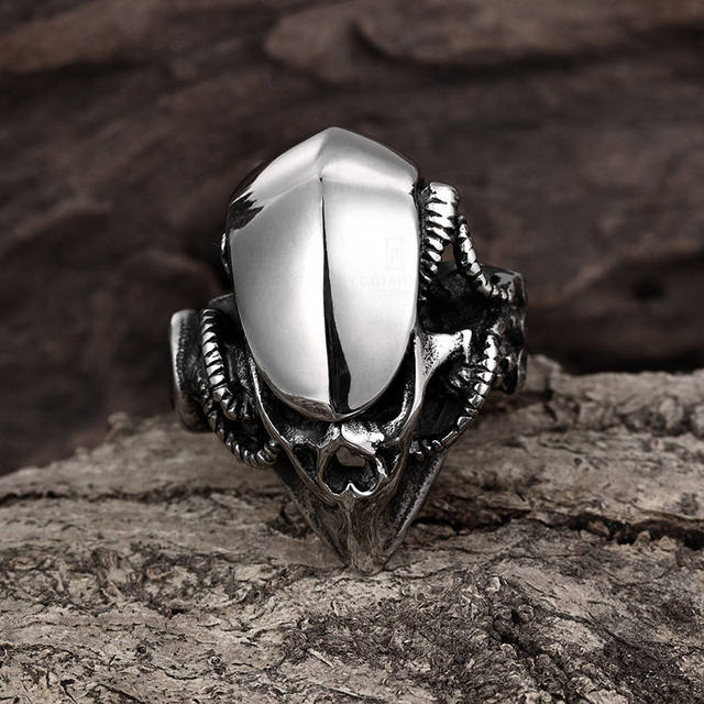 STAINLESS STEEL SKULL HEAD PREDATOR RINGS