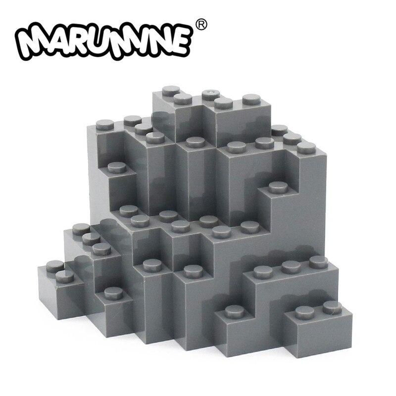 Marumine Rock Panel 8x8x6 Medium Symmetric MOC Bricks 10PCS 23996 Mountain DIY Building Blocks City Part