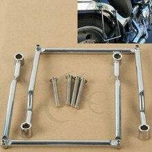 цена на Motorcycle Saddlebag Support Bars For Honda Rebel CMX 250 Kawasaki Vulcan VN VN800 Classic VN900 800 Cruiser Yamaha Suzuki