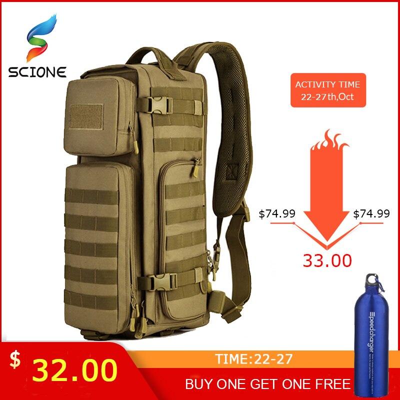 Hommes poitrine fronde sac à dos hommes une seule épaule mâle grand voyage militaire sacs à dos Cross body sacs extérieur sac à dos