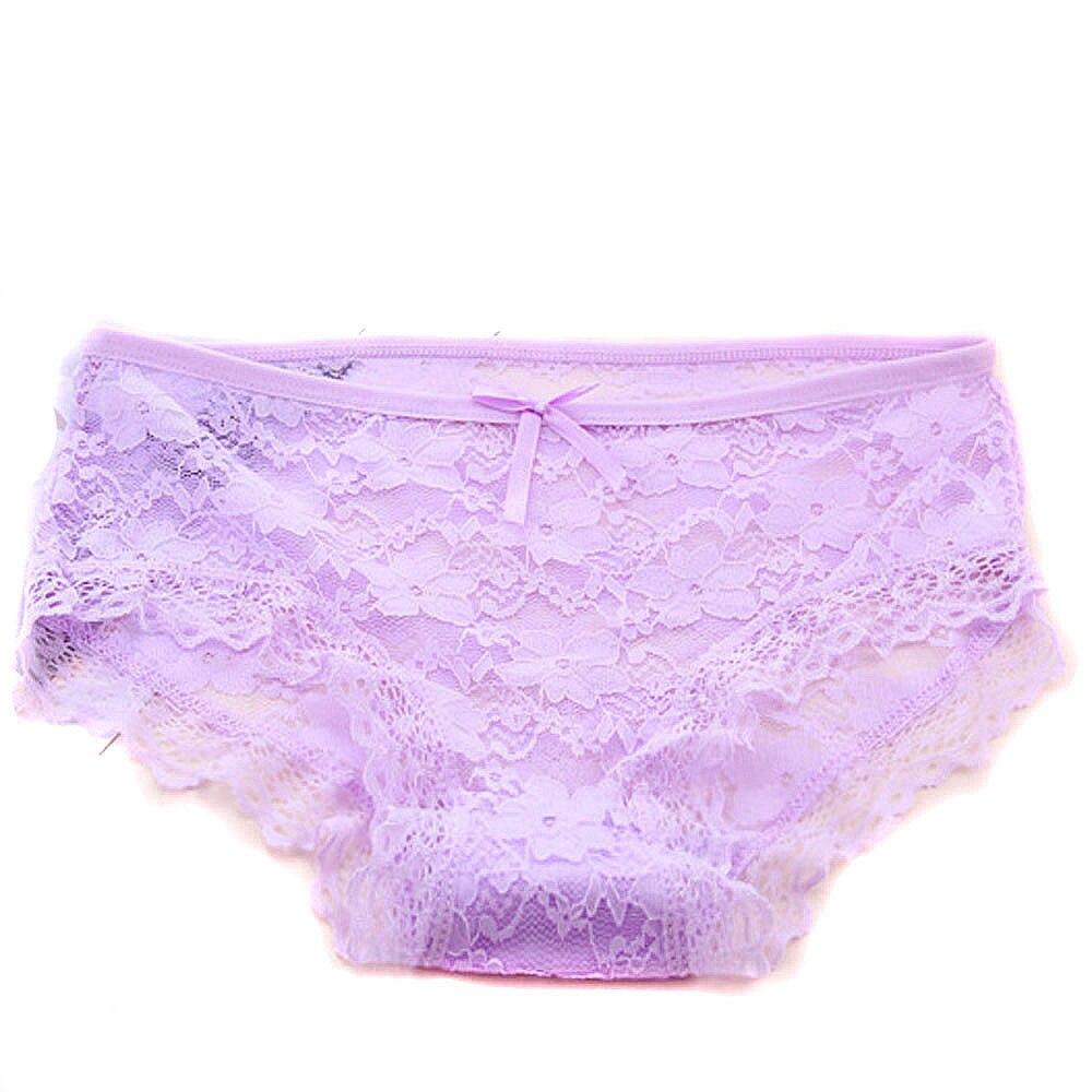 SAGACE Women's Lingerie Jacquard Net Transparent Lace Underpants Underwear Lingerie female underwear Mesh Yarn Underwear Lingeri