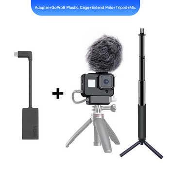 GoPro Pro 3.5mm Mic Adapter for HERO 9 HERO 8 HERO 7 HERO5 Black/HERO5 Session/ HERO6 BLACK AAMIC-001