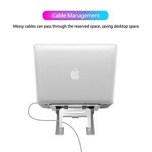 Image 4 - 5 dişli ayarlanabilir alüminyum katlanabilir dizüstü standı masaüstü dizüstü tutucu masası dizüstü standı 7 15 inç Macbook Pro hava