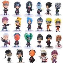 Naruto Action Figure Toys 23 Styles Q style Zabuza Haku Kakashi Sasuke Naruto Sakura PVC Model Doll Collection Kids Toy 1PCS/lot