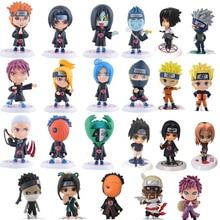Naruto figurine jouets 23 Styles Q style Zabuza Haku Kakashi Sasuke Naruto Sakura PVC modèle poupée Collection enfants jouet 1 pièces/lot