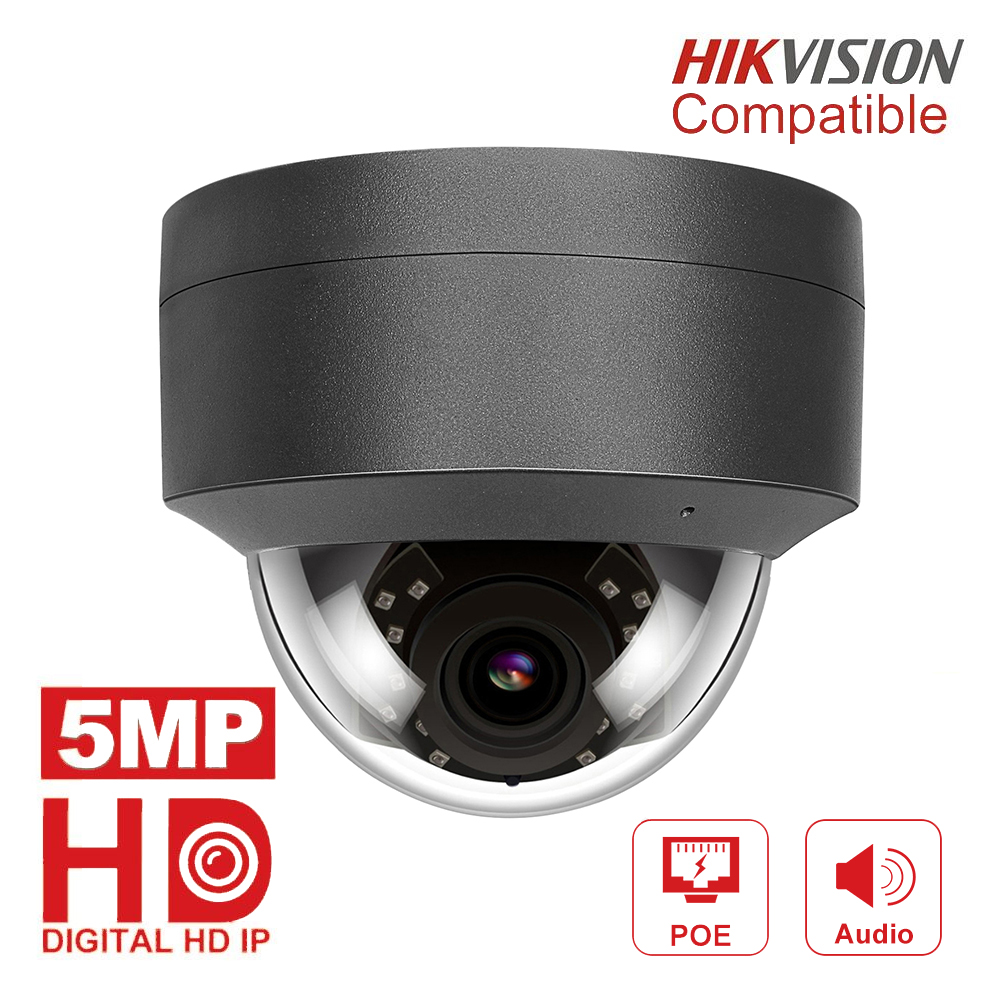 Compatible with Hikvision H.265 5MP IP Camera POE 2952*1944 Plug & Play Outdoor Dome Security Video Surveillance Cameras CCTV