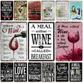World Of Wine металлическая табличка, металлический винтажный декор для паба, бара, Жестяная Табличка, плакат, домашний декор, художественная жив...