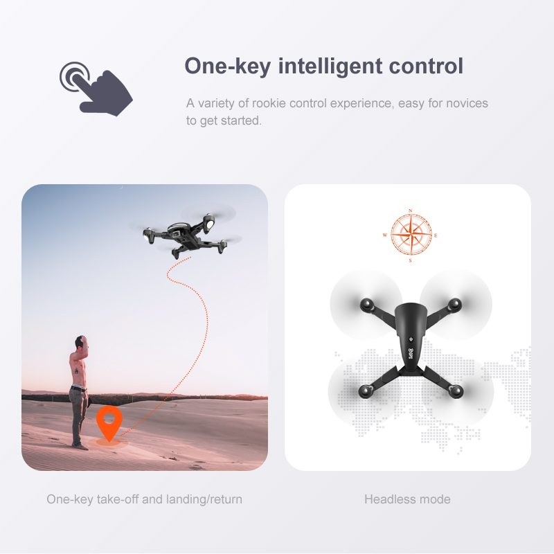 one key intelligent drone flight control