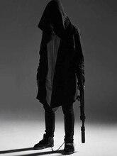 Hip Hop Hoodie Men Black Gothic Streetwear Alan Walker Cardigan Sweatshirt alan walker bergen