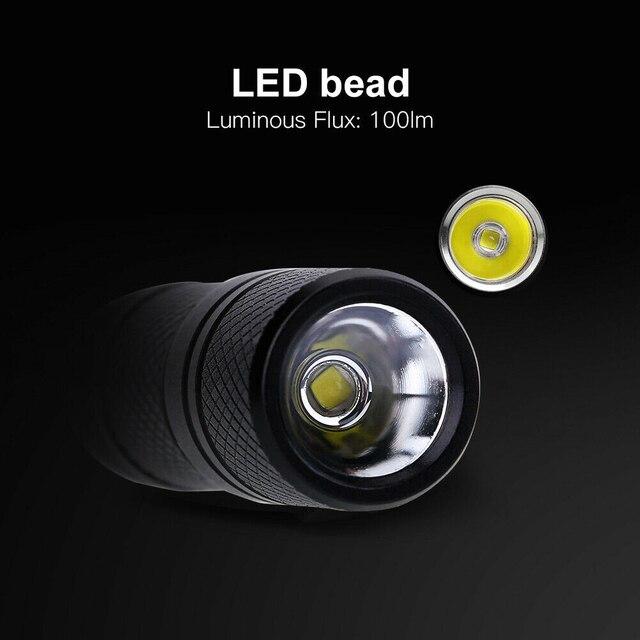 Taşınabilir Mini anahtarlık USB şarj edilebilir LED lamba el feneri anahtarlık cep anahtar zincirleri Torch lambası gece aydınlatma kamp/yürüyüş için