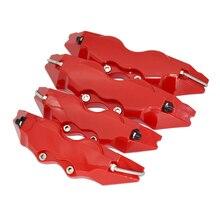 레드 컬러 ABS 플라스틱 자동차 자동 디스크 브레이크 캘리퍼 커버 전면 및 후면 크기 M + S 장식 액세서리, 4 개