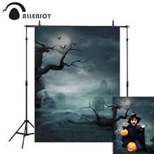 Allenjoy foto achtergrond Halloween grave maan horrible night tree cloud Photostudio fotografie photophone achtergrond photocall(China)