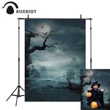 Allenjoy photo background Halloween grave moon horrible night tree cloud Photostudio Backgrounds for Photo studio photography