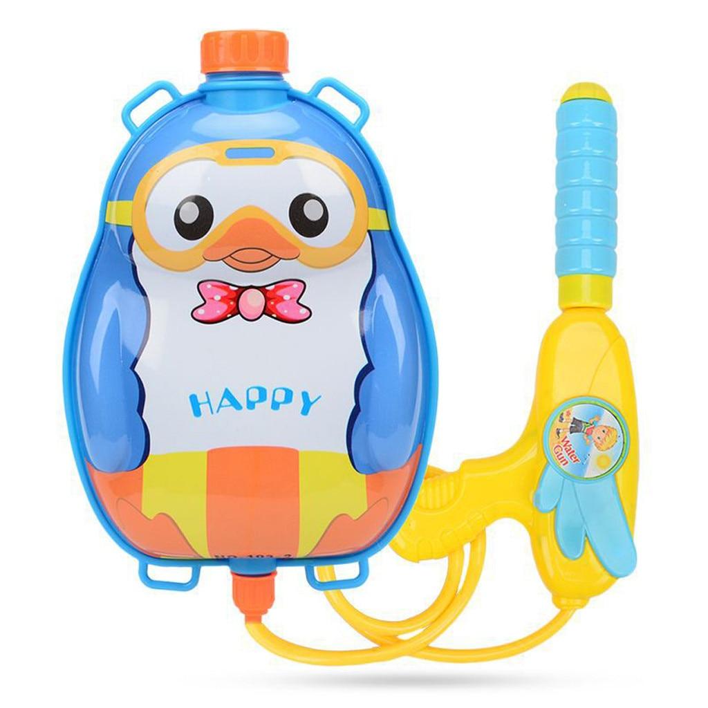 Cartoon Animal Water Spray Toy Backpack Children Long Range Beach Play Toy Squirt Toy Pistol Spray Water Gun Outdoor Toy