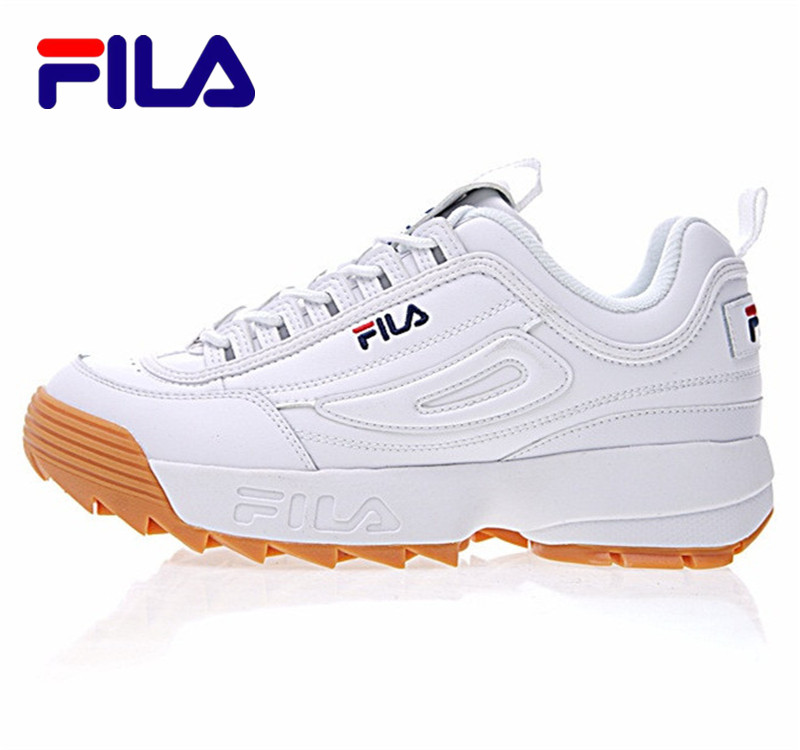 2018 Fila Disruptor II 2 Men And Women Sneaker Running Shoes White-brown And White Summer Increased Outdoor Sneaker Size 36-44