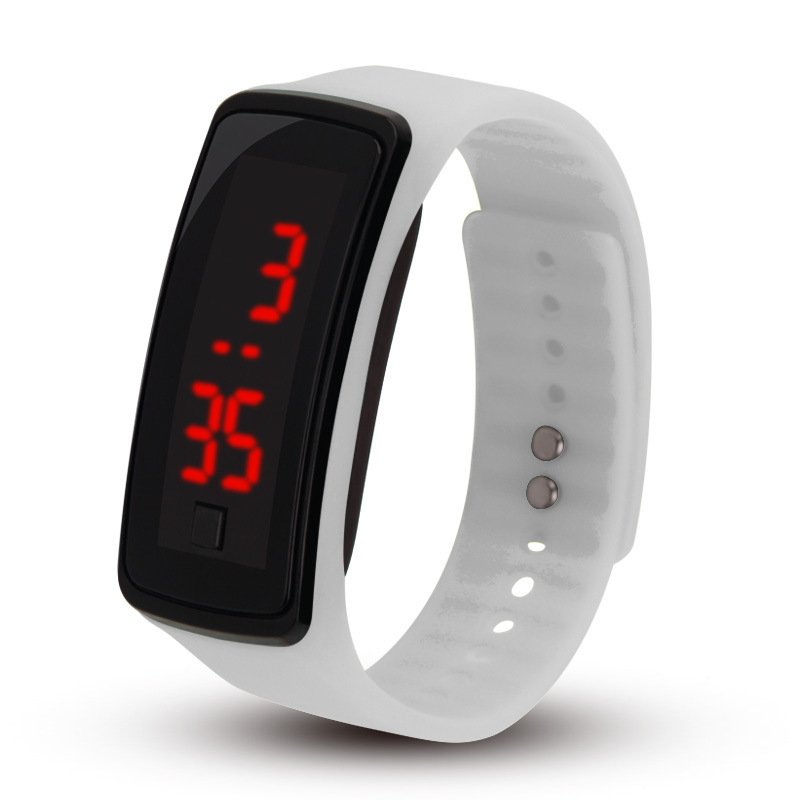 Silicone Buckle LED Electronic Watch Silicone Bracelet Watch Children's Gift Multi-color Optional