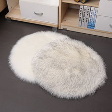 Solid Color Warm Wool Round Cushion Stool Pad Thickening Dining Chair Cushion Anti-Slip Seat Mat Chair Mat Pad High Quality
