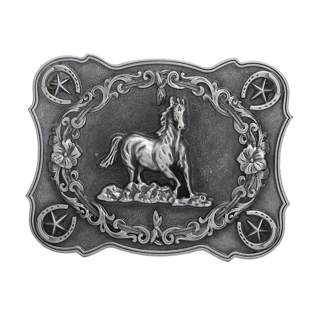 Zinc Alloy Western Cowboy Belt Buckle Running Horse Replacement Buckle For Men