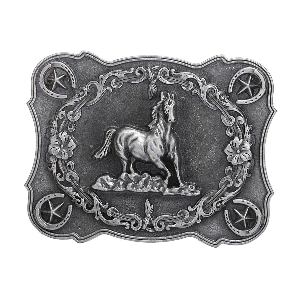 Zinc Alloy Western Cowboy Belt Buckle Running Horse Replacement Buckle For Men