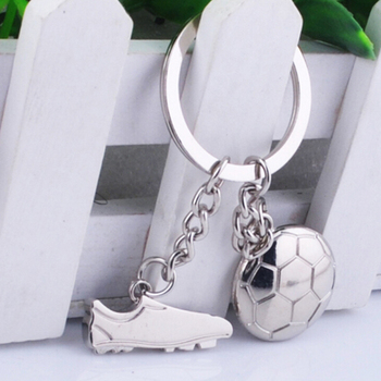 Alloy metal key chain Football soccer shoes Car Key RingsTrinkets Keychain World Cup Europe Champions League key chain image
