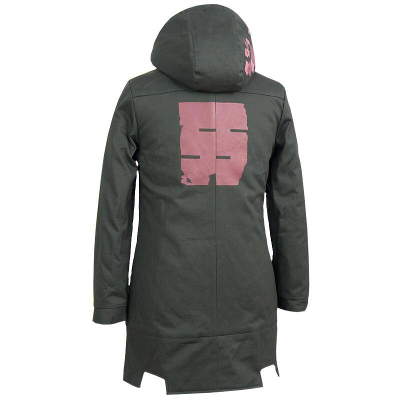 Super Danganronpa 2 Nagito Komaeda Zipper sweat à capuche vert kaki veste à capuche