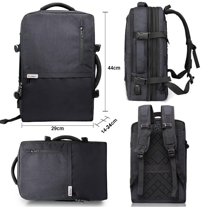 Femmes hommes voyage sac à dos étanche 17 sacoche pour ordinateur portable 15.6 ordinateur portable Anti-vol sac à dos USB chargeur Smart sac à dos sacs d'école - 5