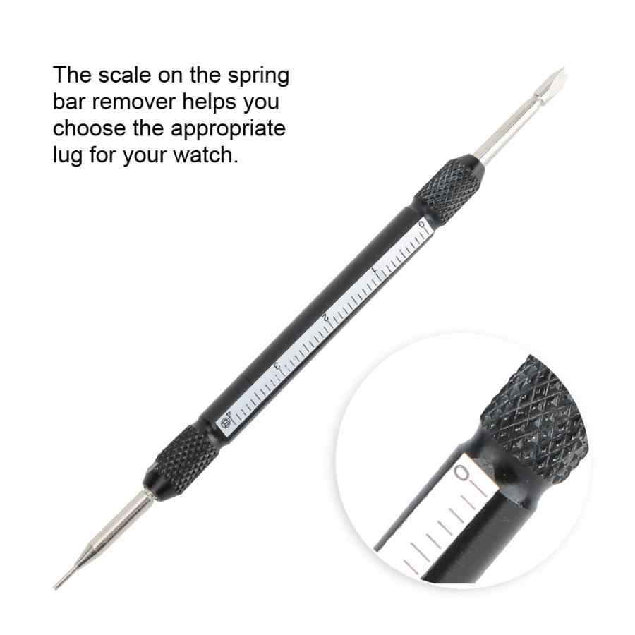 1 pieza nuevas herramientas de reparación profesionales Metal de doble punta Barra de resorte correa de reloj removedor de eslabones herramientas de reparación de correa de reloj