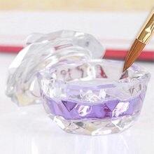 1 adet akrilik sıvı cam akrilik toz Dappen bulaşık kristal cam bardak için akrilik tırnak sanat 2 türleri