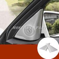 Matte Car Door Audio Speaker Cover Trim 2pcs For Mercedes Benz C Class W204 S204 2008 2013