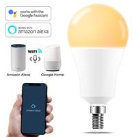 Dimmable 15W E14 WiFi Intelligente Luce di Lampadina HA CONDOTTO LA Lampada App Operare Alexa Google Assistente di Controllo Vocale sveglia Intelligente lampada Nightlight