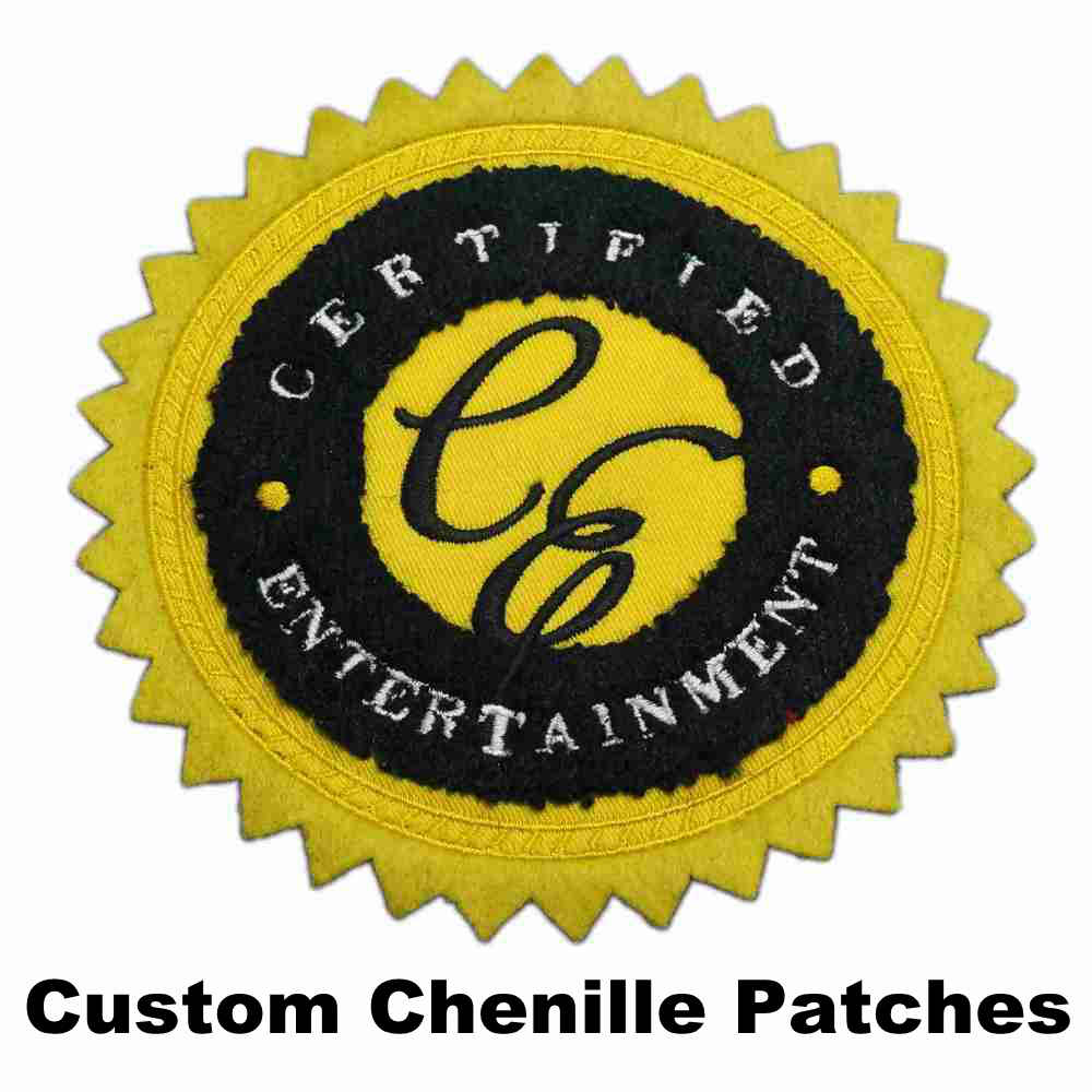 Hot Sales Custom Chenille Patches Embroidery Patches For Hoodie Stick-on Backing