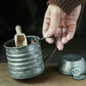 Image 3 - 金属鉄錬鉄鉄花瓶ジャー小さなミルクポットレトロインダス素朴な静物食品写真撮影の小道具
