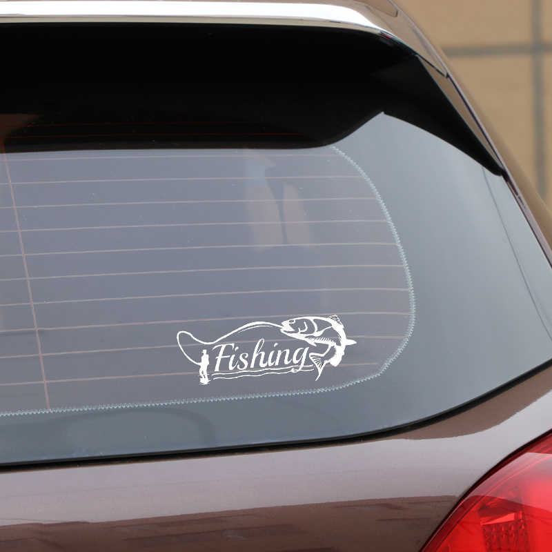 Aliauto Grappige Auto Sticker Vissen Hunter Decor Modellering Vinyl Silhouet Accessoires Pvc Decal Voor Passat B5 Porsche, 15 Cm * 5 Cm