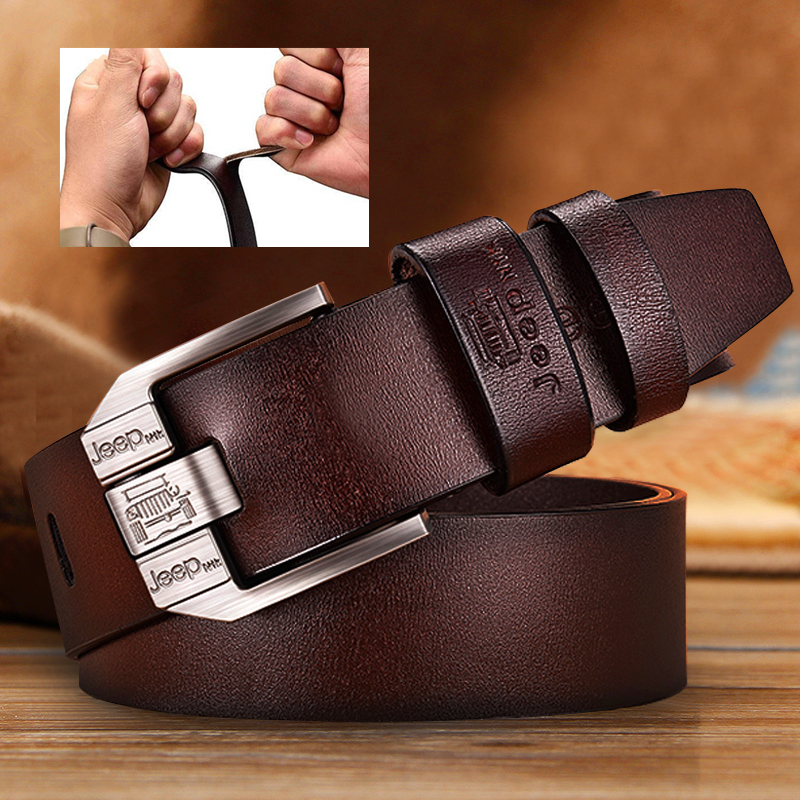 Men Belt For Men Genuine Leather Luxury Brand Belt High Quality Alloy Pin Buckle Men's Business Retro Youth With Jeans New Belt