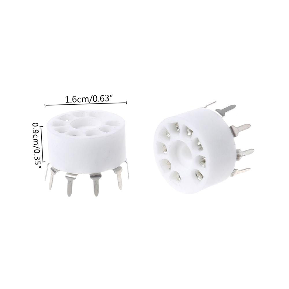 10pcs 9 pin Outlet Electronic Tube Ceramic Sockets Gold Plated Tube Holder Audio Accessories in Electrical Sockets from Home Improvement