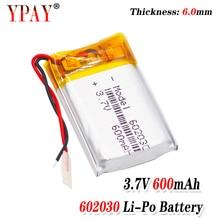 цена на 3 line Liter energy battery 3.7V lithium polymer battery 602030 600mAh game machine MP3 MP4 MP5 lithium battery GPS navigator