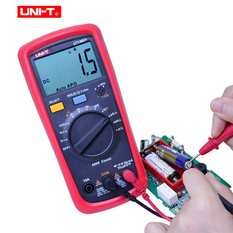 Tools : UNI-T UT136B  UT136C  Multimeter Digital multimeter tester AC DC Voltmeter Ammeter Ohm capacitance HFE Diode transistor tester