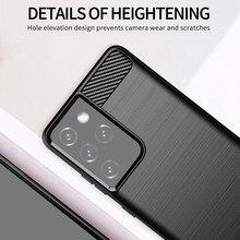 Для Samsung Galaxy S21 Ультра чехол Note 10 Lite 20 плюс S10 S20 FE противоударный бампер из углеродного волокна Мягкий чехол для телефона с изображением цвето...