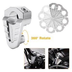 Image 5 - 7/8 22mm 28mm gümüş CNC alüminyum gidon yükselticiler Rise dağı kelepçe Universals motosiklet ATV yükseltici D35
