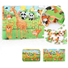 New 60 Pieces Wooden Puzzle Kids Toy Cartoon Animal Wood Jigsaw Puzzles Child Early Gift  Puzzle Box Baby Toys Wooden Puzzle