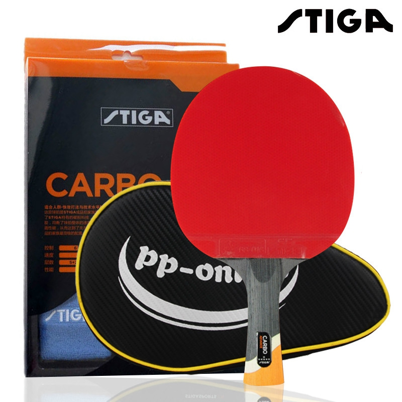 Genuine STIGA Pro Carbon 6 STARS High Quality Table Tennis Racket Raquete De Ping Pong With Bracers Table Tennis Carbon Blade
