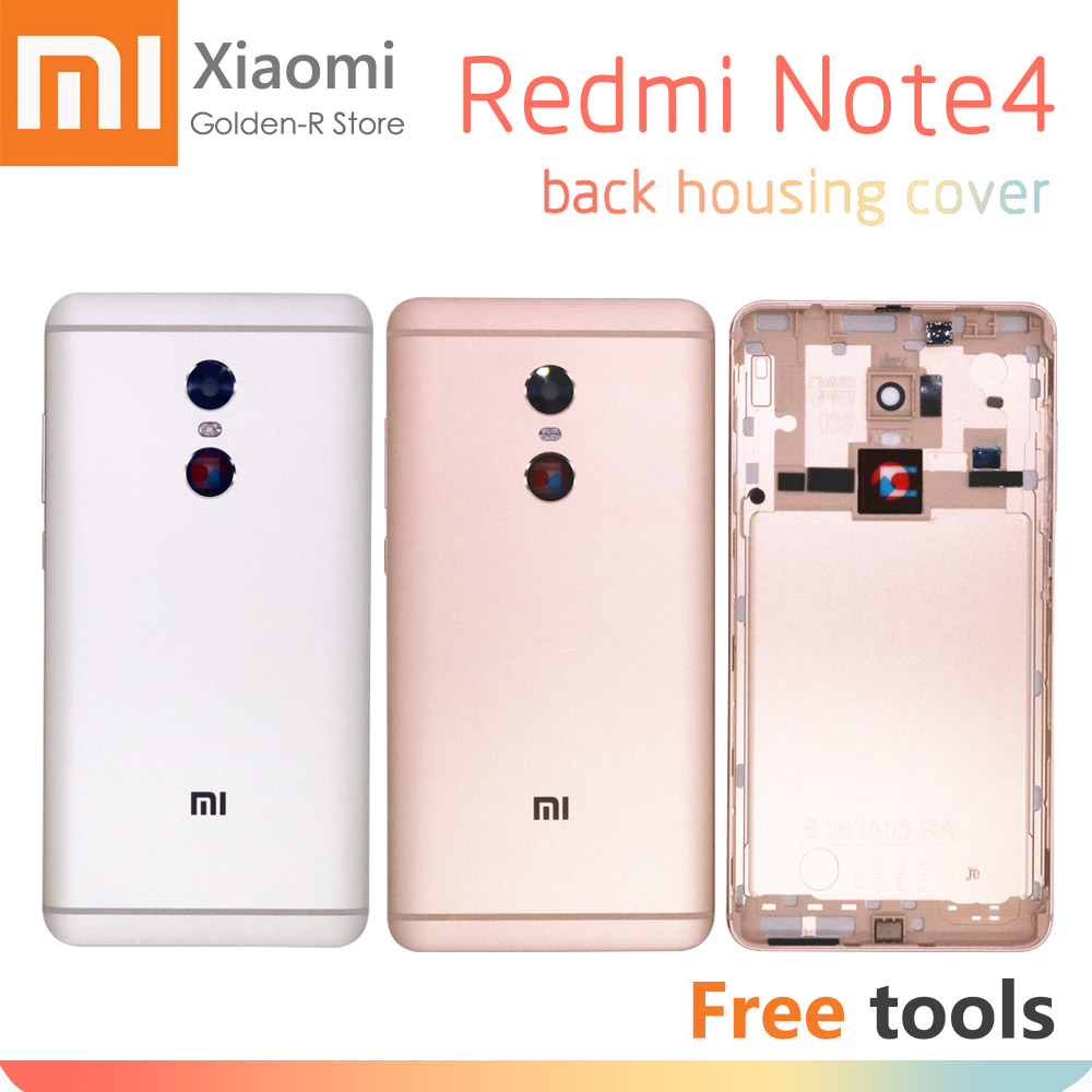 Xiaomi Redmi Note 4 Battery Cover Rear Door Back Housing Xiaomi Note4 With Volume Power Buttons Replacement + Tools