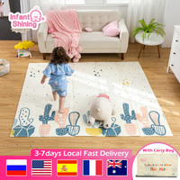 Infant Shining XPE Baby Play Mat Crawling Pad Folding Thickening Environmental Protection Household Children 180*200cm Floor Mat