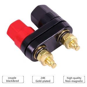 Plug-Jack Connector Terminals Banana-Plugs Binding-Post Couple Top-Selling Black Quality